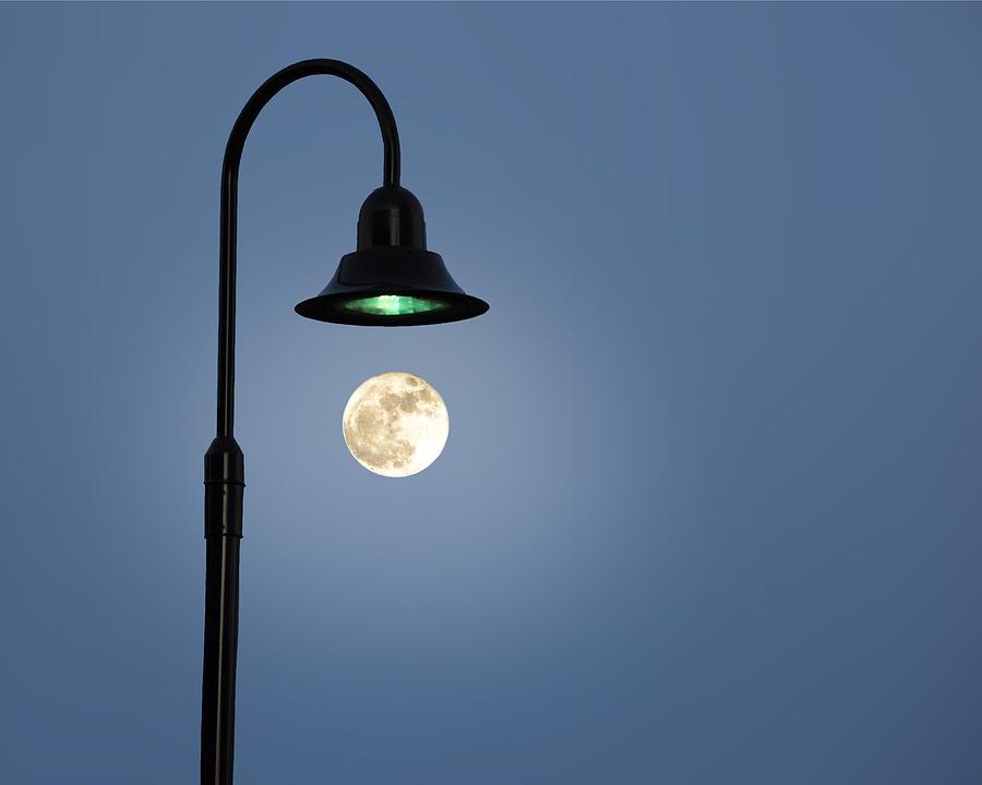 Art Photograph - Moon Lighting by Tom McCarthy
