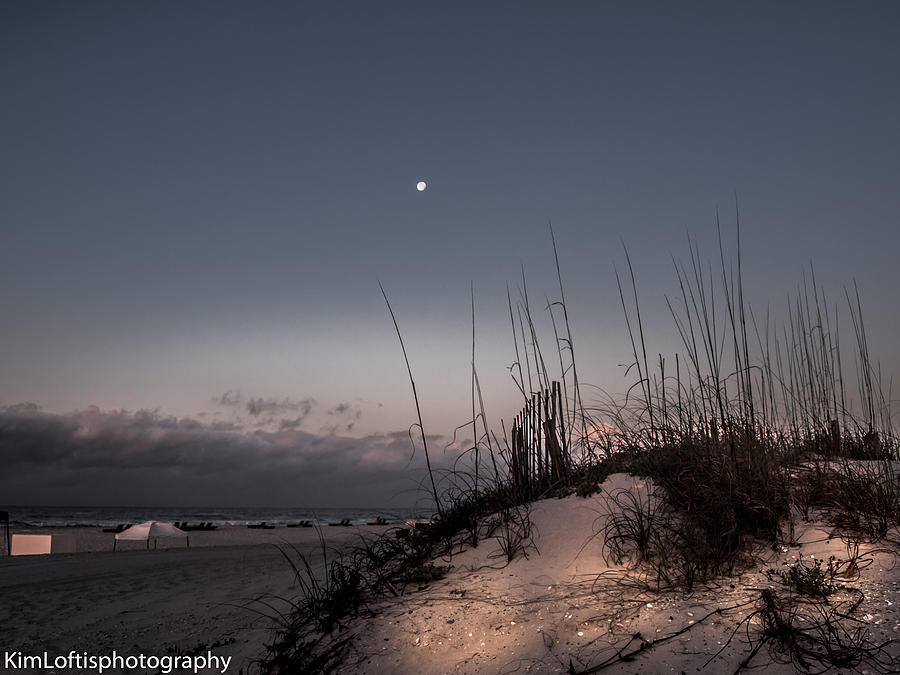 Beach Photograph - Moon Meets The Sun  by Kim Loftis