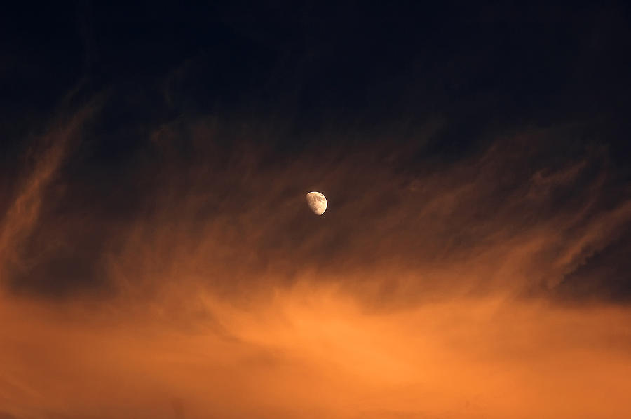 Moon Photograph - Moon On Fire by Mandy Wiltse