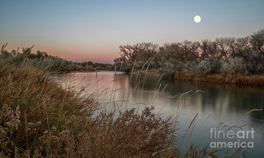 Moon Over Animas River by Jaime Miller