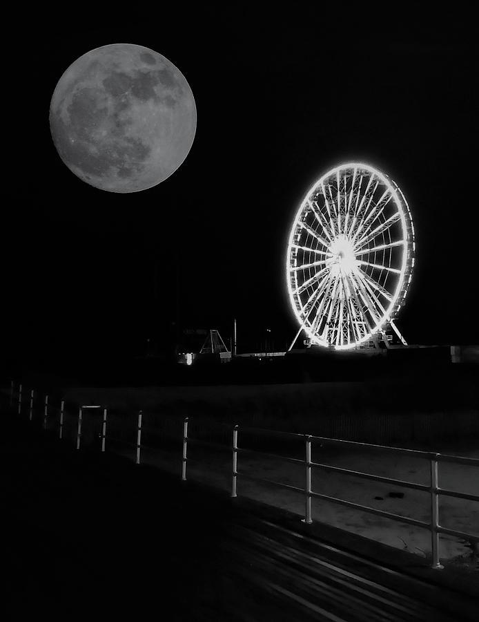 Moon Over Ferris Wheel by Jason Denis