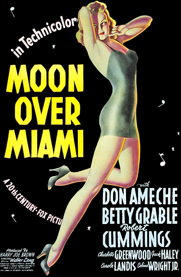 1940s Movies Photograph - Moon Over Miami, Betty Grable, 1941 by Everett