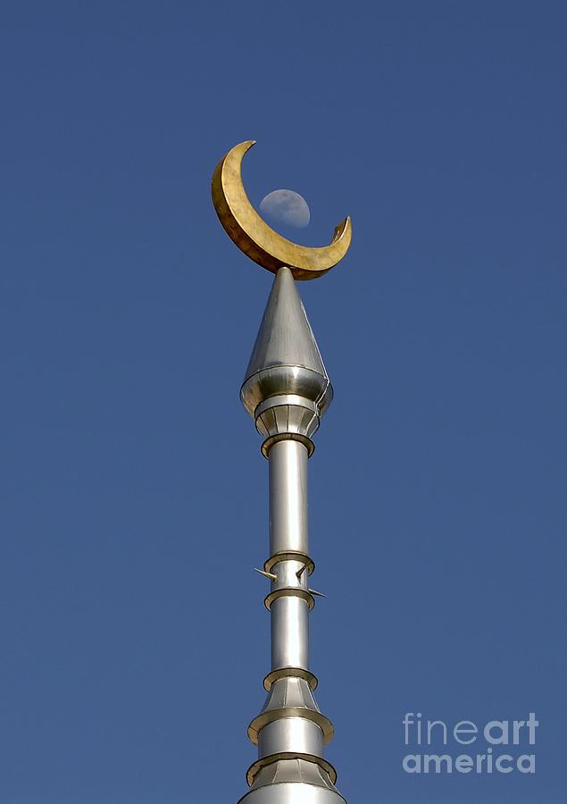 Minarets Photograph - Moon Over Minarets by David Lee Thompson