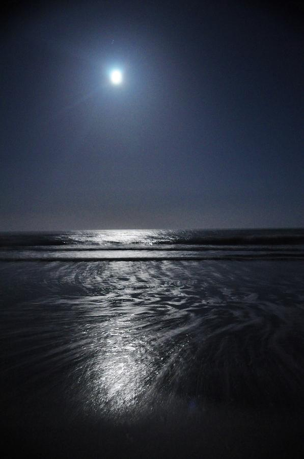 Outer Banks Photograph - Moon Over Ocracoke by Jeff Moose