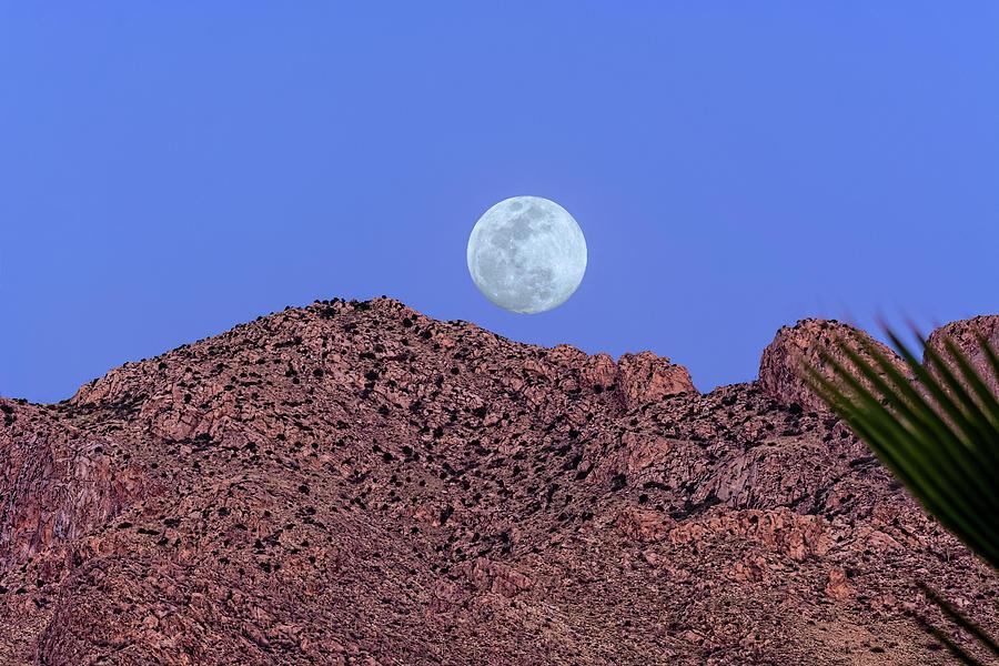 Moon Over Pusch Ridge H1816 Photograph