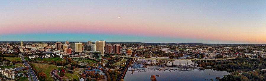 Rva Photograph - Moon over RVA by Tredegar DroneWorks