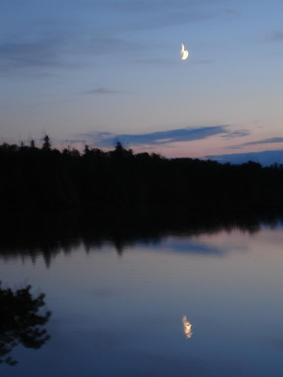 Moon Over Sawbill Lake Photograph by Aiden Bishop