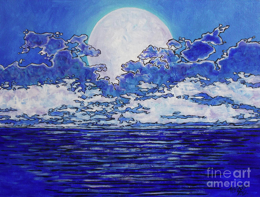 Moon Over the Atlantic by Tracy Levesque