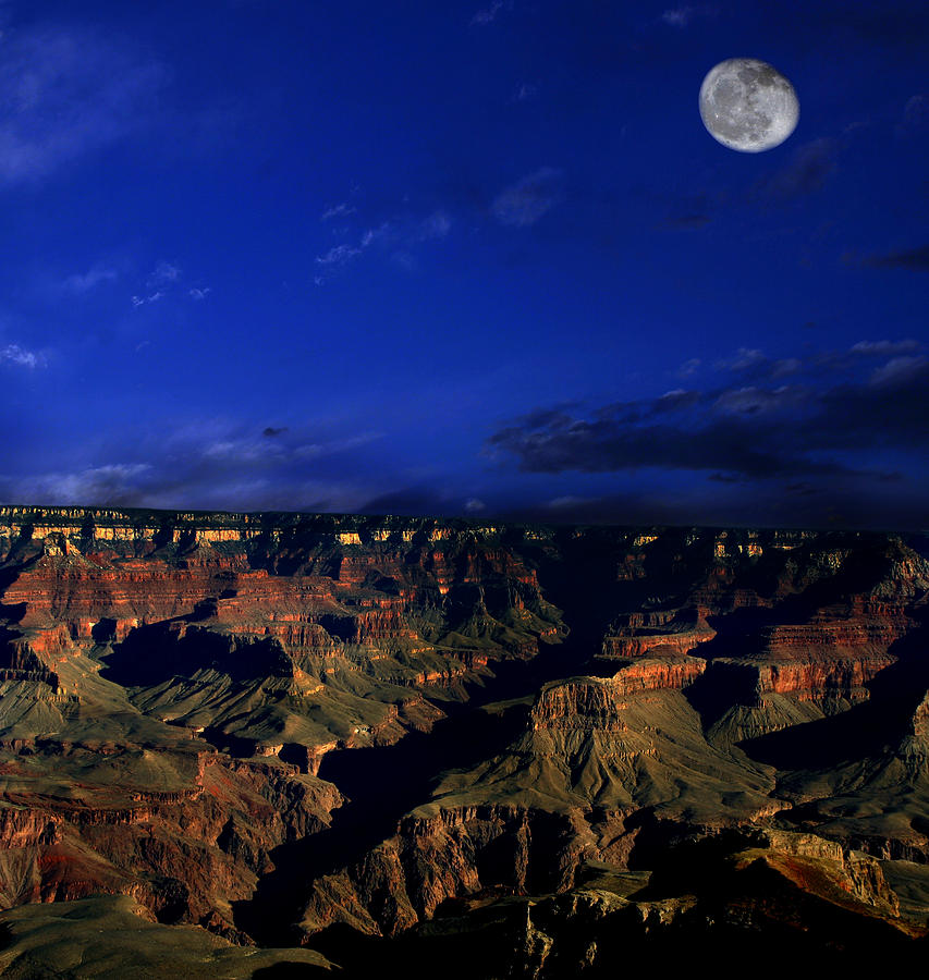 Grand Canyon Photograph - Moon Over The Canyon by Anthony Jones