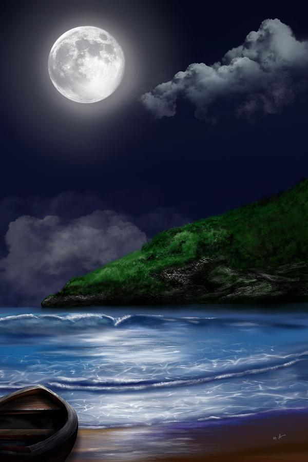 Moon Over the Cove by Mark Taylor