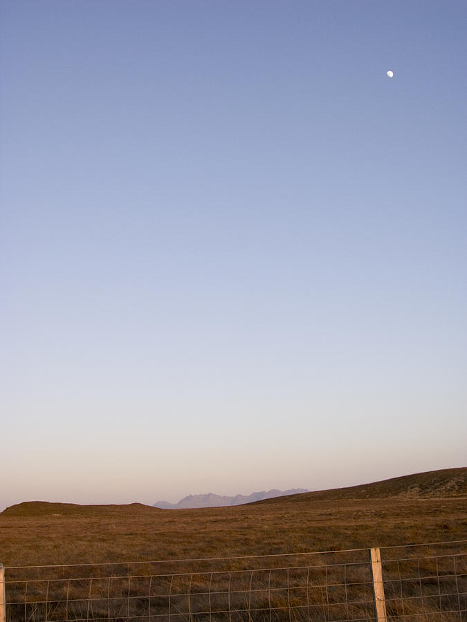 Landscape Photograph - Moon Over The Cuillins by Dan Andersson