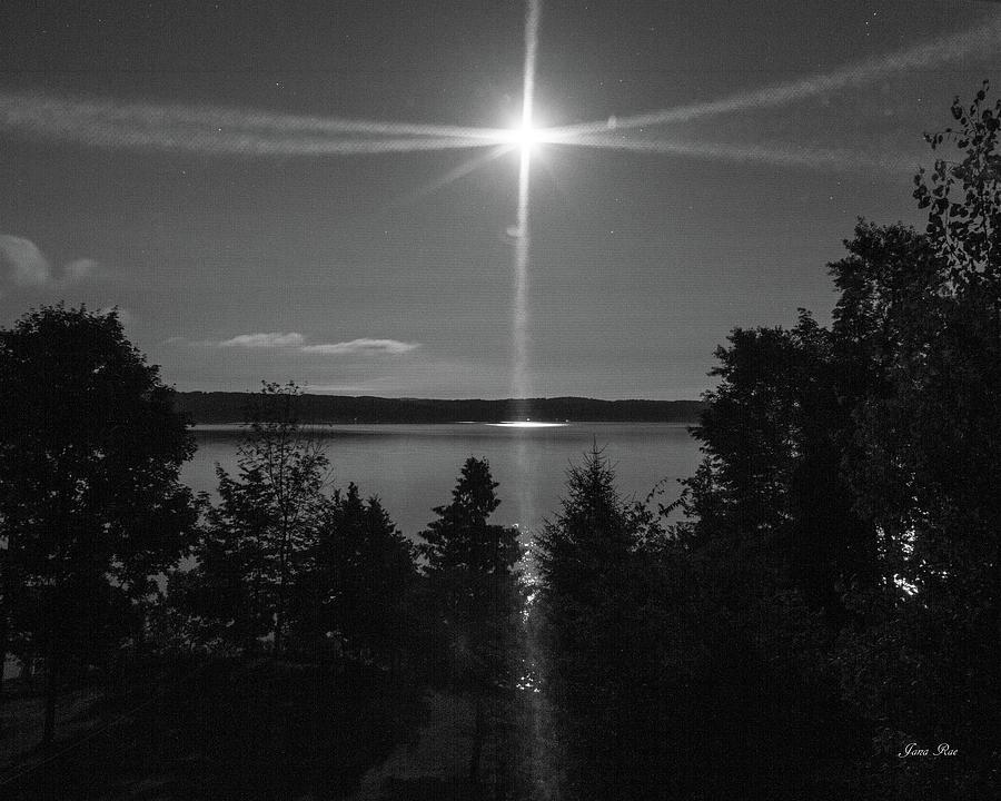 Moon Over Torch Lake 3642 by Jana Rosenkranz