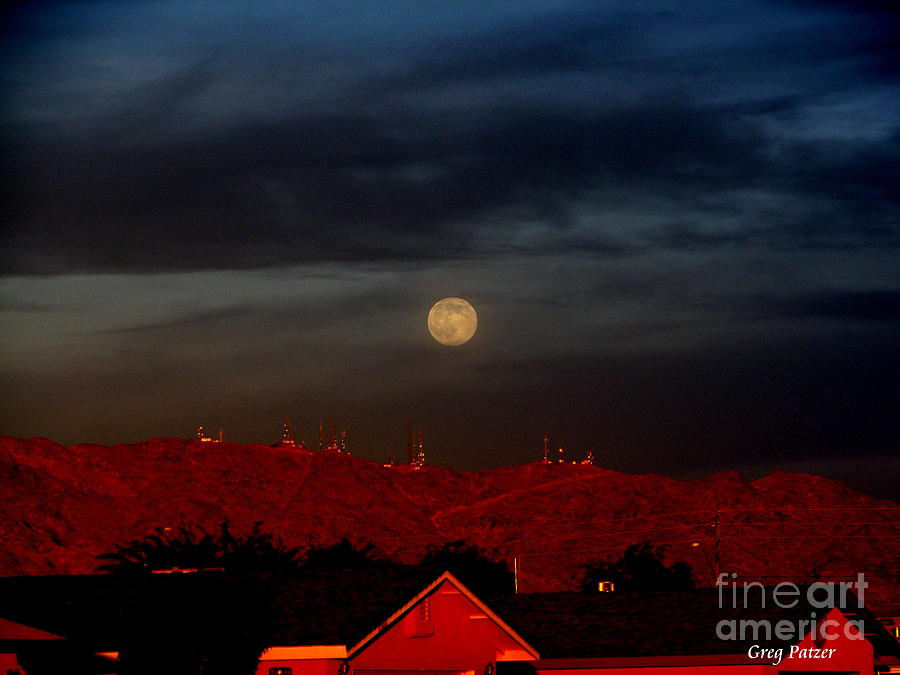 Patzer Photograph - Moon Over Yuma by Greg Patzer
