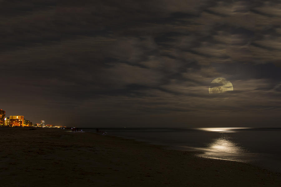 Alabama Photograph - Moon Peeking Through Clouds by Gej Jones
