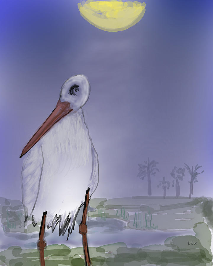 Moon Rise Becomes A Stork by Teresa Epps