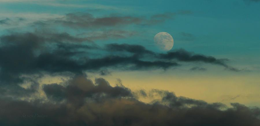 Elements Photograph - Moon Rise Sun Set by Steven Poulton