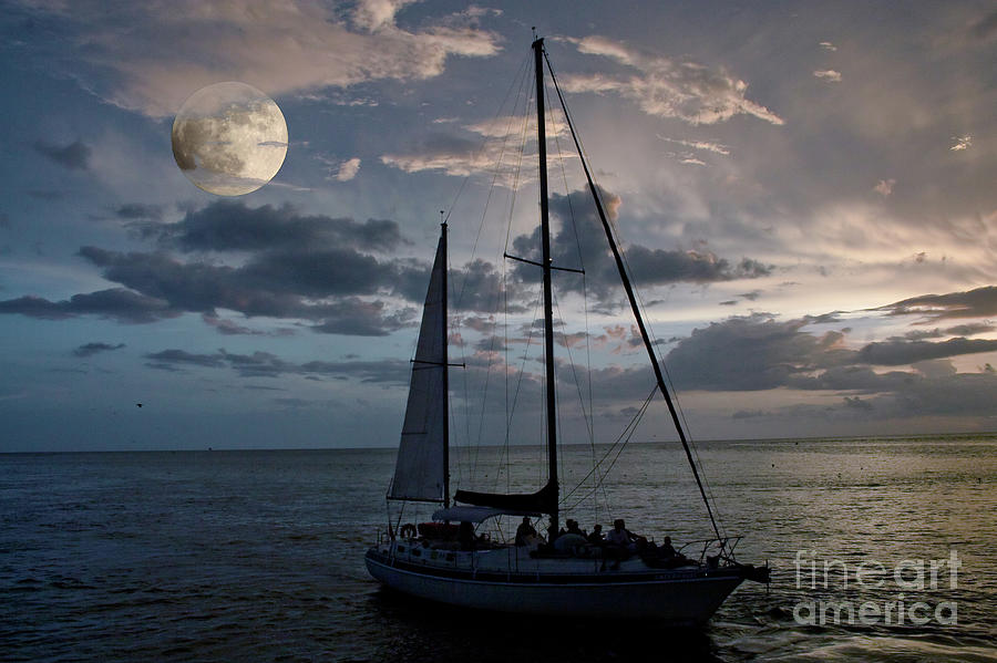 Moon Photograph - Moon Sail by Digartz - Thom Williams
