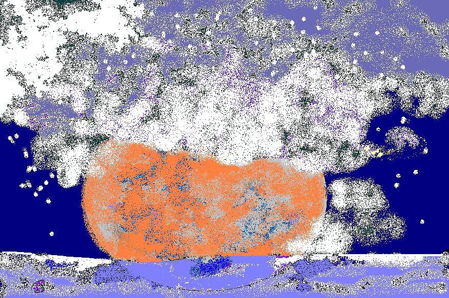 Moon Sinks Into Ocean Digital Art by Beebe  Barksdale-Bruner