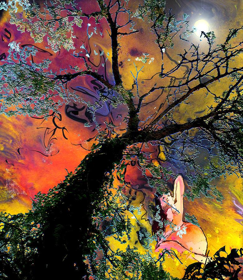 Eroticism Painting - Moonbathing by Miki De Goodaboom
