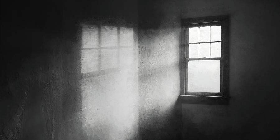 Moonbeams On The Attic Window Photograph