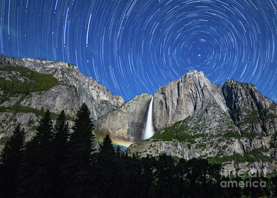 Moonbow and Startrails  by Brandon Bonafede