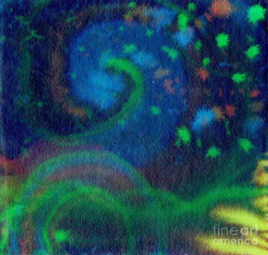 Abstracts Painting - Moonbow by Chandelle Hazen