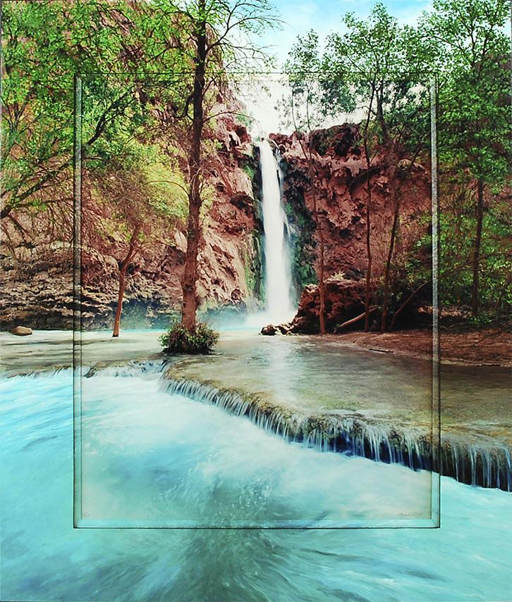 Southwest Photograph - Mooney Falls by Michael Albin
