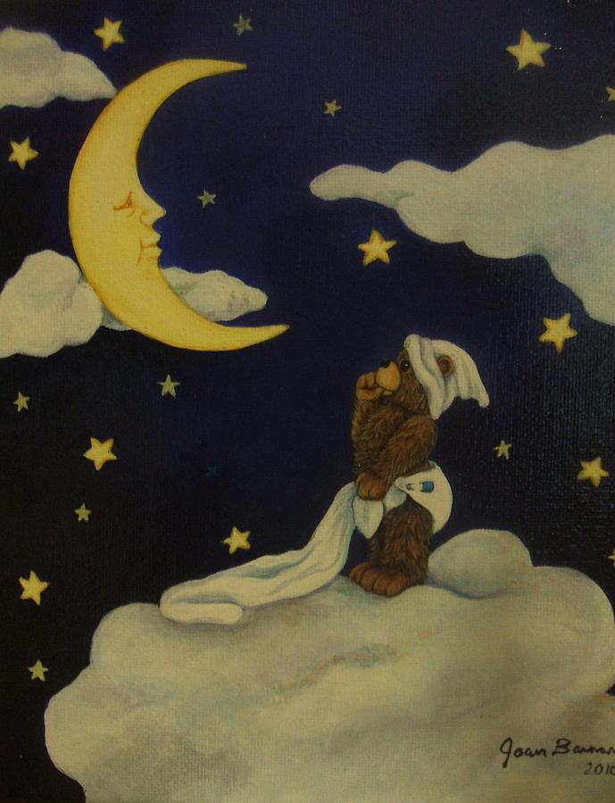 Bear Painting - Moongazer by Joan Barnard