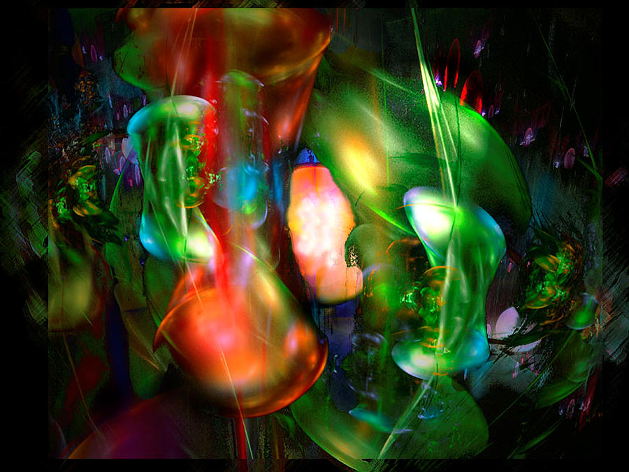 Garden Digital Art   Moonglow In The Garden On The Edge Of Forever By  ReeNee Cummins