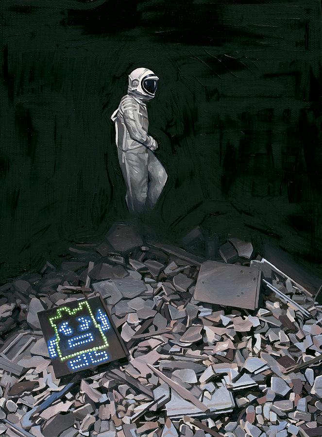 Astronaut Painting - Mooninite by Scott Listfield