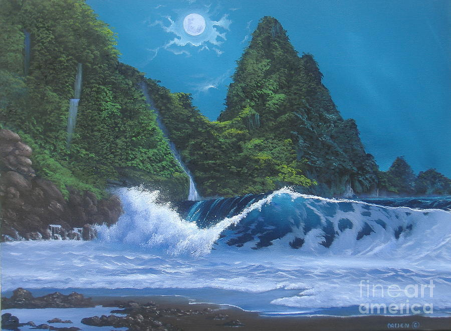 Moonlight and Waves by Michael Allen