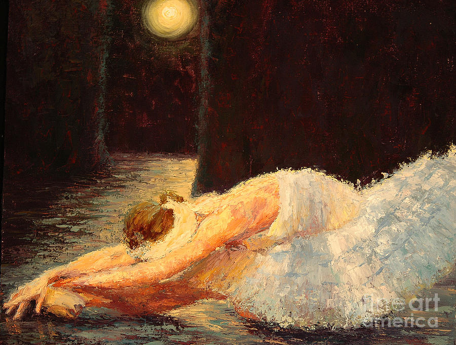 Moonlight Ballet Painting by Colleen Murphy
