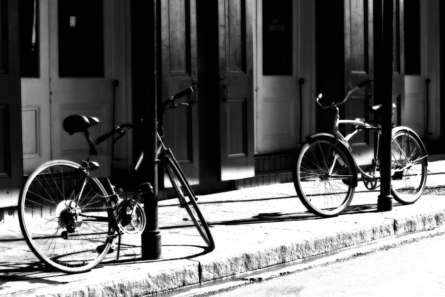 Bicycle Photograph - Moonlight Bikes by Mark Courage