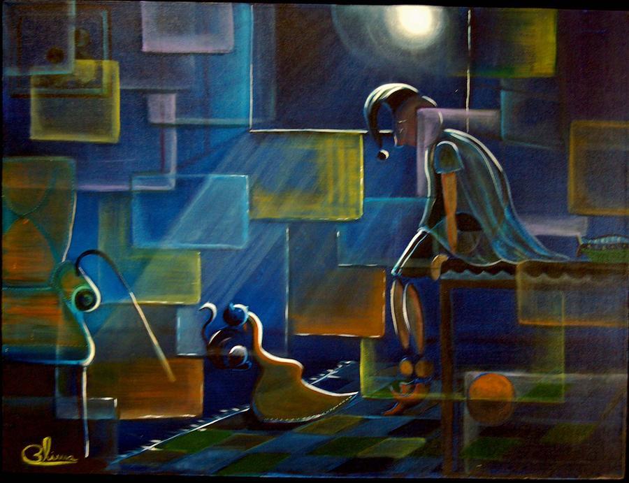 Fantasy Painting - Moonlight by Blima Efraim