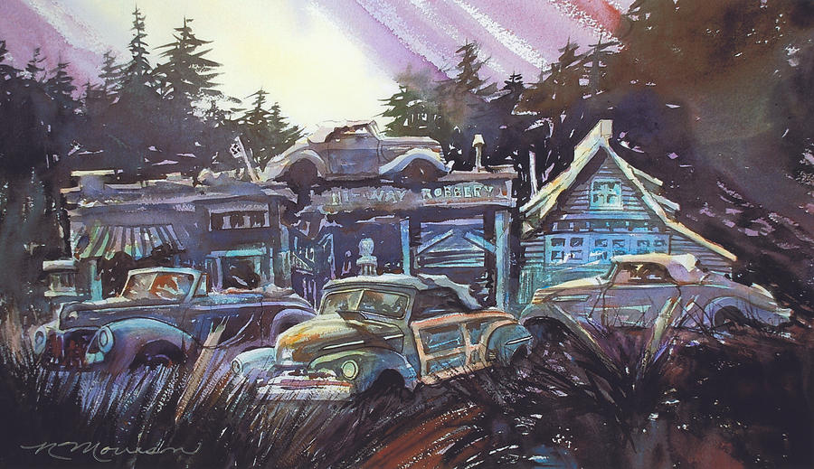 Moonlight Cabriolets Painting by Ron Morrison