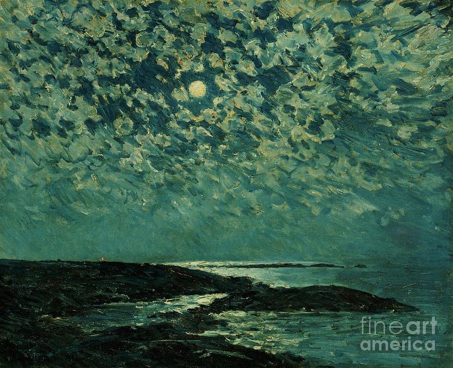 Moonlight Painting - Moonlight by Childe Hassam
