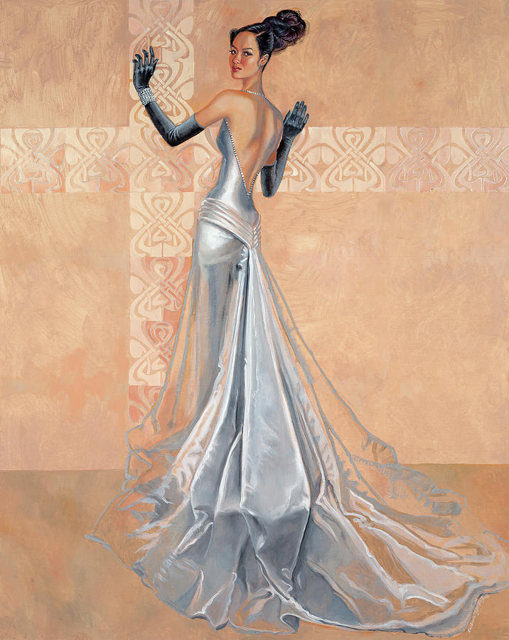 Fashion Illustration Painting - Moonlight Daiquiri by Barbara Tyler Ahlfield
