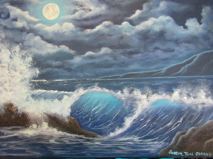 Moonlight Fantasy Painting by Sharon Coray