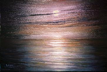 Moon Painting - Moonlight Glow by Eileen Anderson
