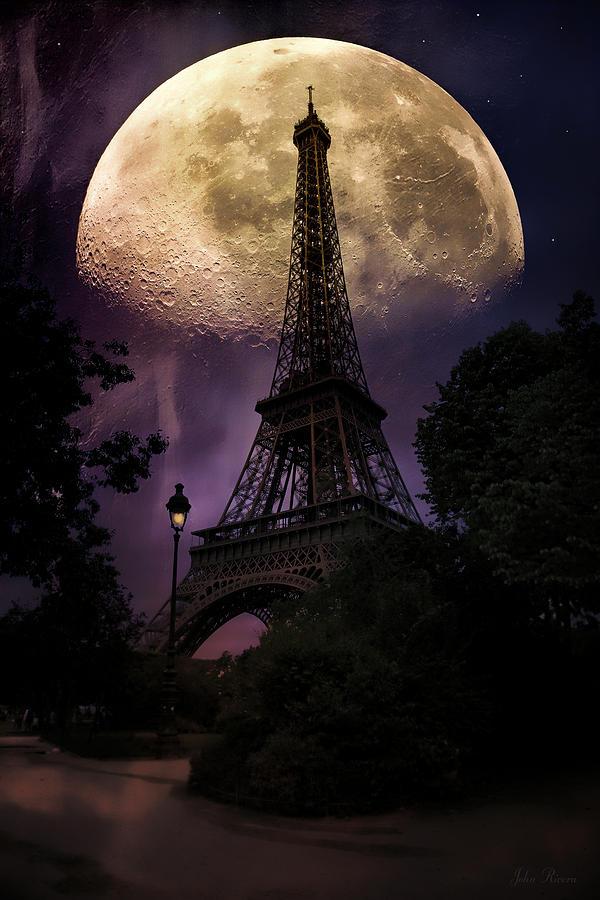 Moonlight Photograph - Moonlight In Paris by John Rivera