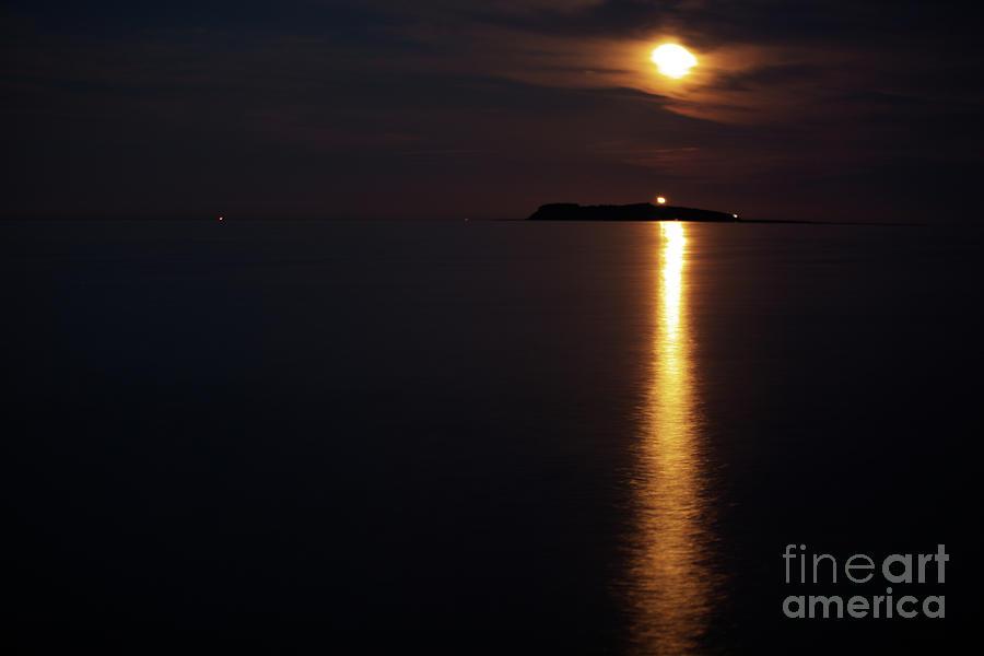 Beach Photograph - Moonlight Over Island by Jesper Sohof