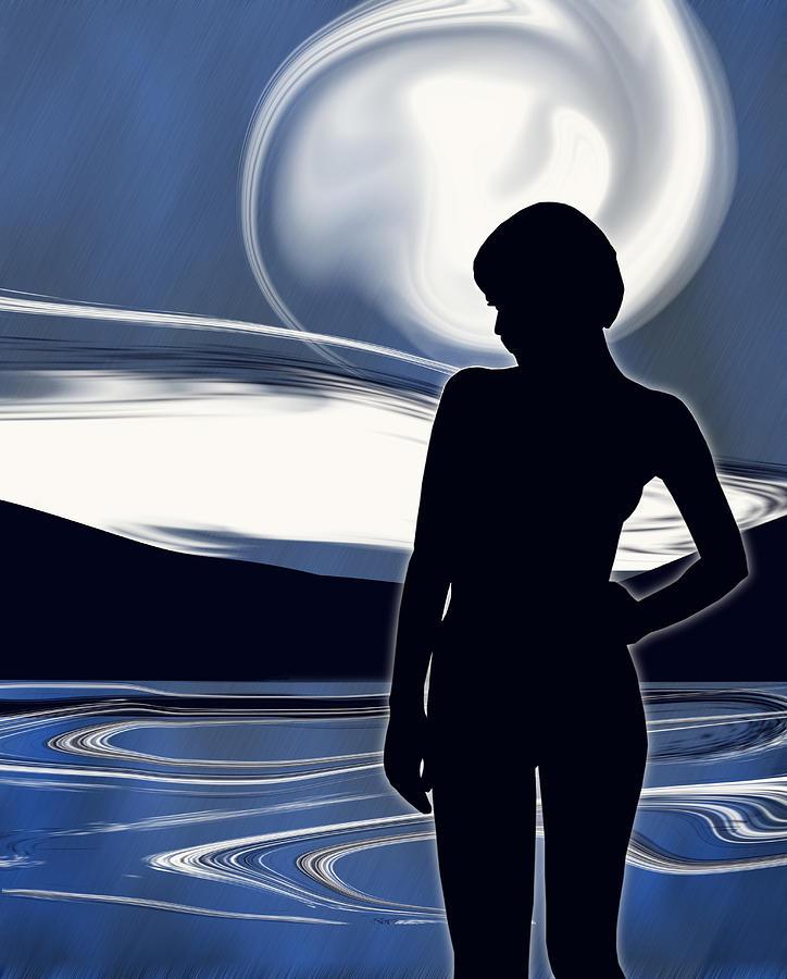 Moon Digital Art - Moonlight Masquerade by Mark Wootton