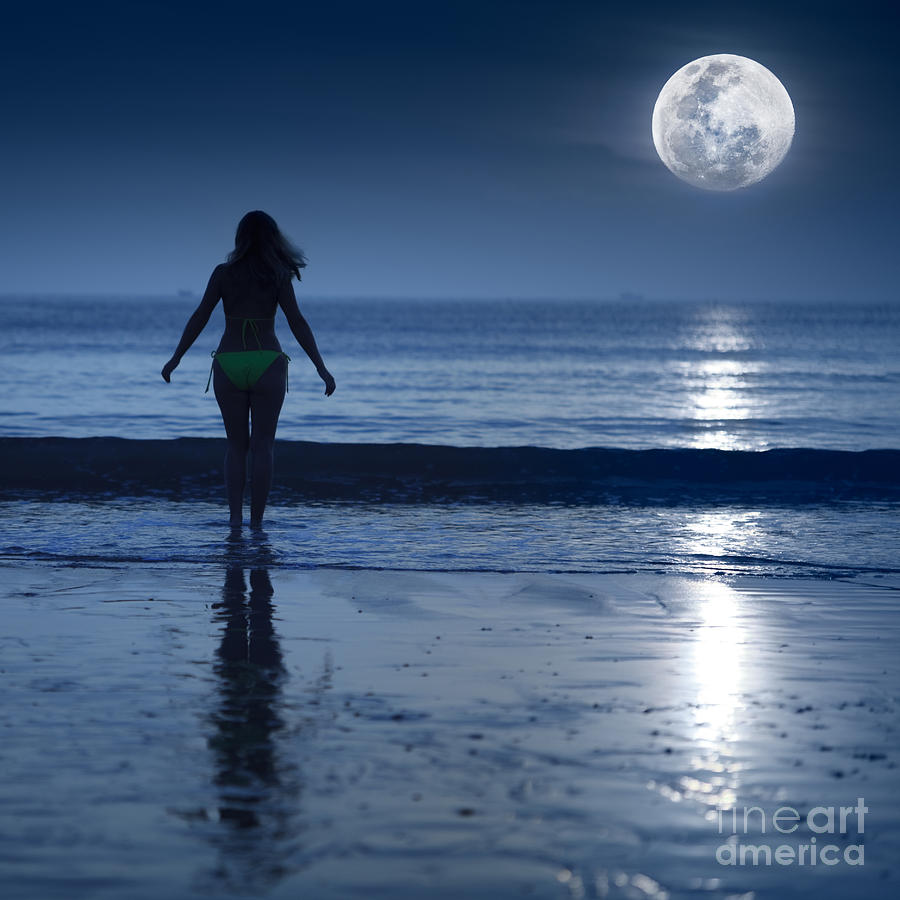 Moon Photograph - Moonlight by MotHaiBaPhoto Prints