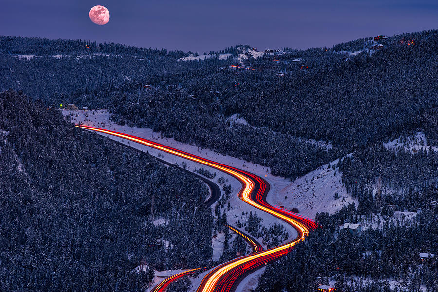 Moonlight On The Mountains Photograph