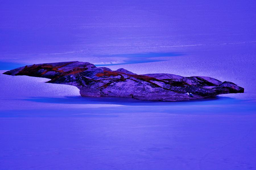 Alaska Photograph - Moonlight On Tundra Ice by Helen Carson