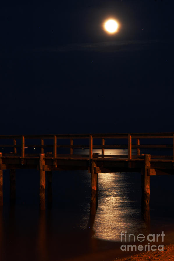Clay Photograph - Moonlight On Water by Clayton Bruster