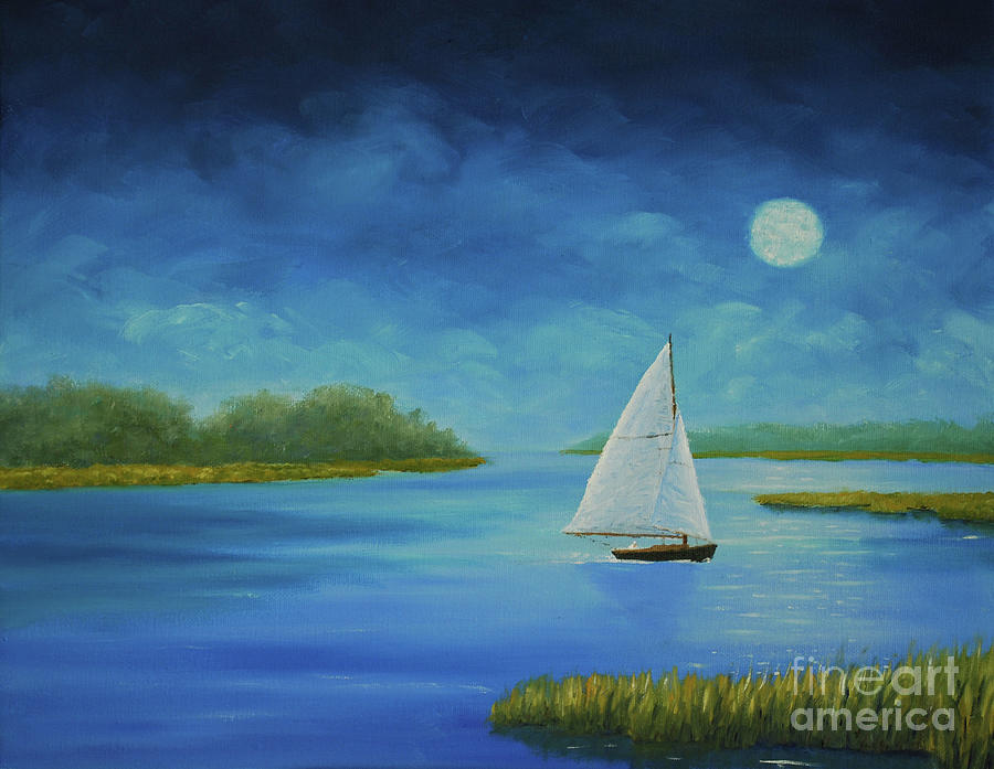 Moonlight Sail by Stanton Allaben