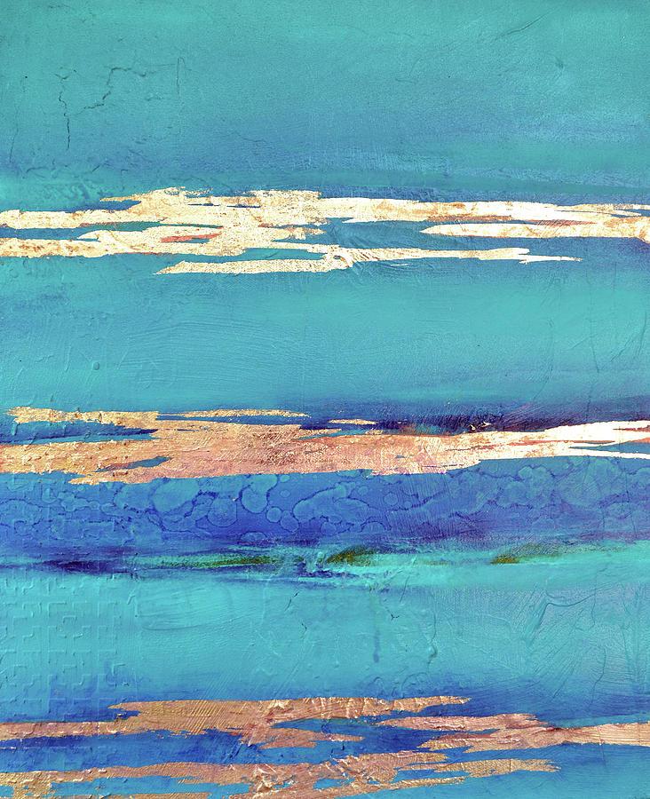 Ocean Painting - Moonlight Sea by Filomena Booth
