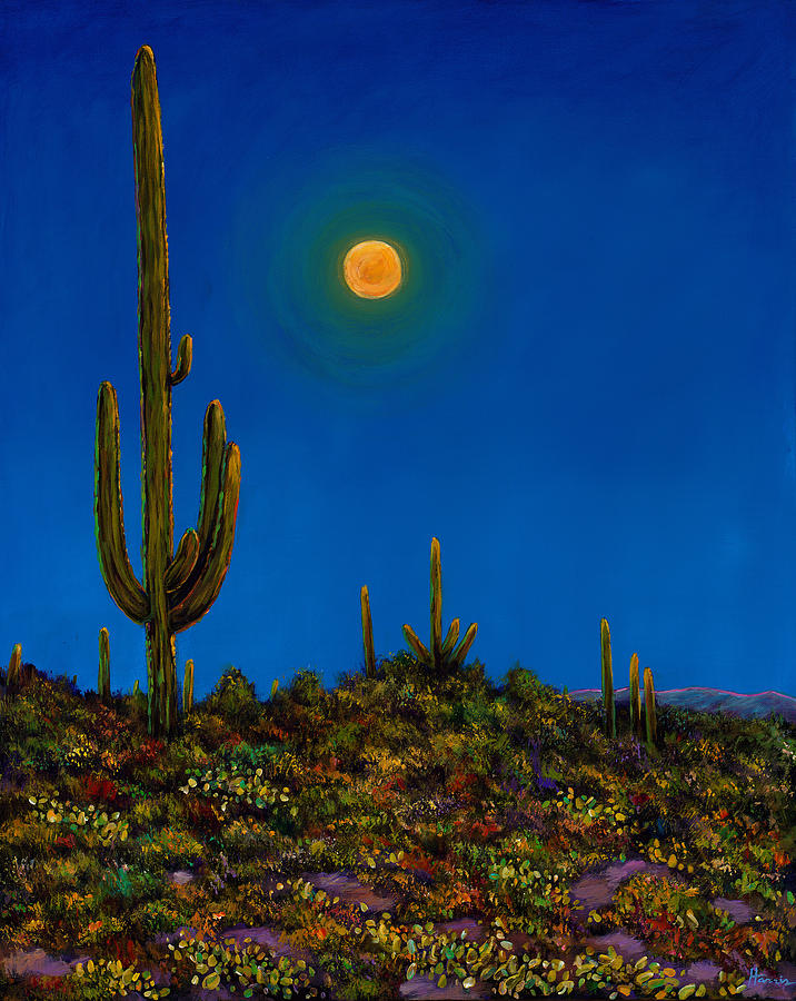 Arizona Painting - Moonlight Serenade by Johnathan Harris