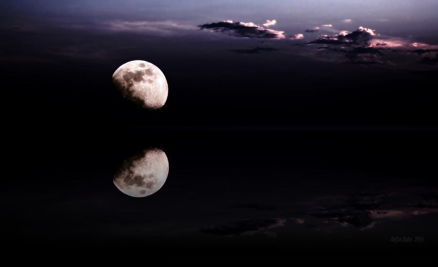 Moon Photograph - Moonlight Shadow by Steve K